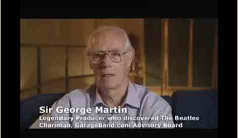 Sir George Martin on garageband.com